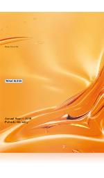 Cover of Wacker's Annual Report 2008