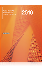 Cover of Wacker's Annual Report 2010