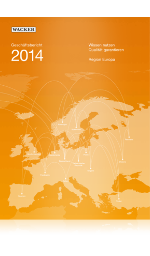 Cover of Wacker's Annual Report 2014