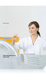 Cover of Wacker's Sustainability Report 2007/2008