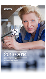 Cover of Wacker's Sustainability Report 2013/2014
